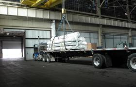Commonwealth public warehouse Fairfield Cincinnati overhead crane flatbed industrial service